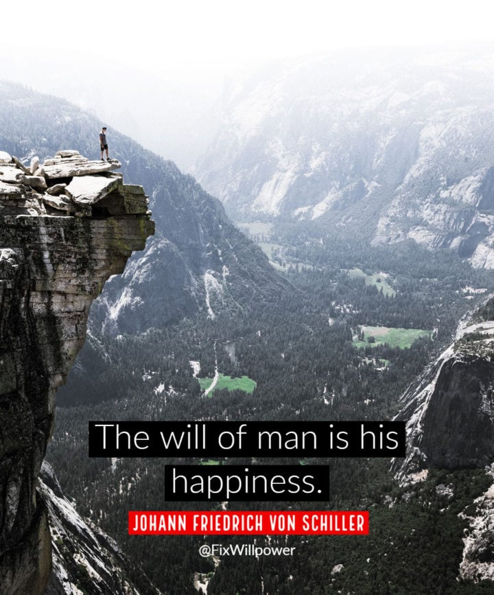 willpower quotes schiller