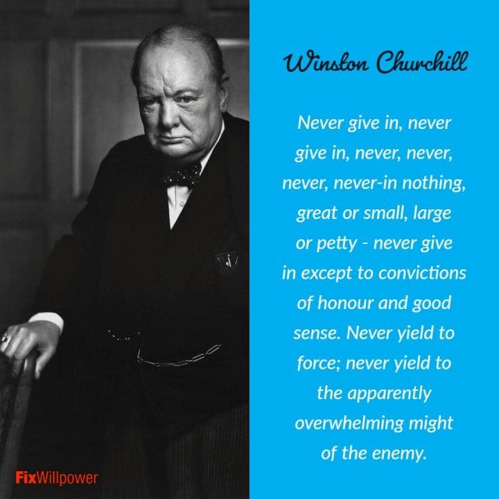 willpower quotes Winston Churchill