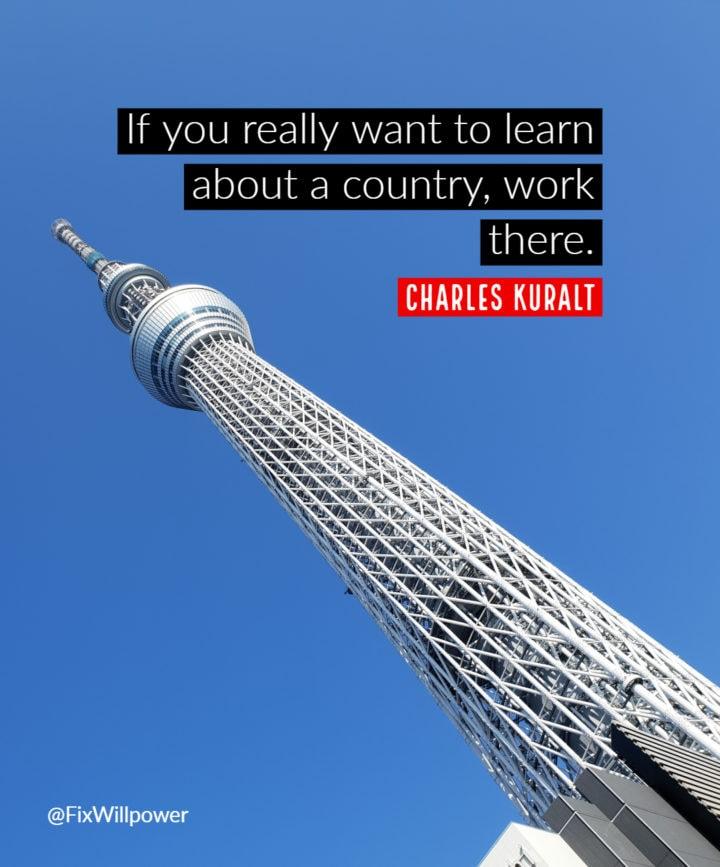work travel quotes Kuralt